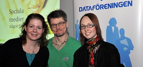 Jenny Eklund, Per-Olov Sjöberg och Linda Karlsson
