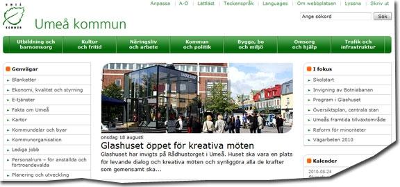 Umeå kommuns webbplats