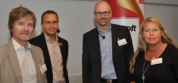 Erik Elmroth, Marcus Gullberg, Magnus Höij och Monica Claeson.