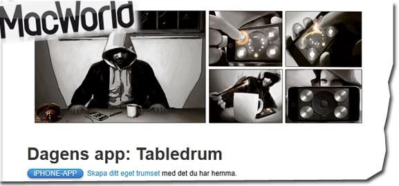 Tabledrum i MacWorld