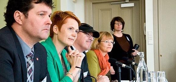 Rundabordssamtal med it-minister Anna-Karin Hatt