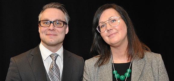 Andreas Hedström och Linda Marklund