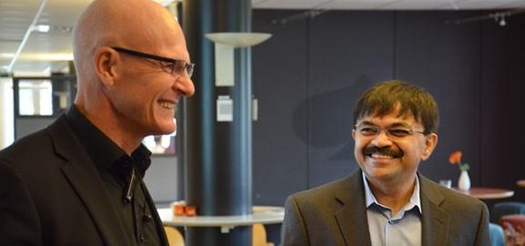Tommy Eriksson och Sandeep Sachdeva