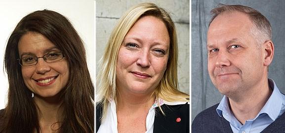 Helena Lindahl, Helén Pettersson och Jonas Sjöstedt