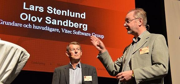 Lars Stenlund och Olov Sandberg på Dagens Industris gasellgala.