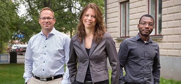 Rickard Ågren, Jean-Paul Kouma och Nina Granström