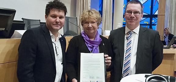 Peter Olofsson, Magdalena Andersson och Erik Bergkvist