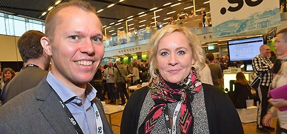 Magnus Bäcklund och Malin Björklund