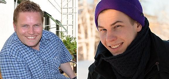 Harry van der Veen och Emil Sjölander