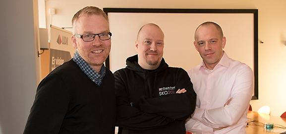 Mikael Larsson, Johan Tegström och Jörgen Bolin