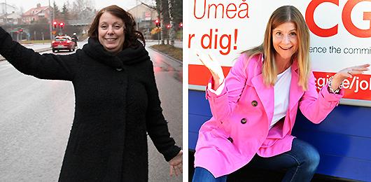 Karin Holm och Sara Winqvist.