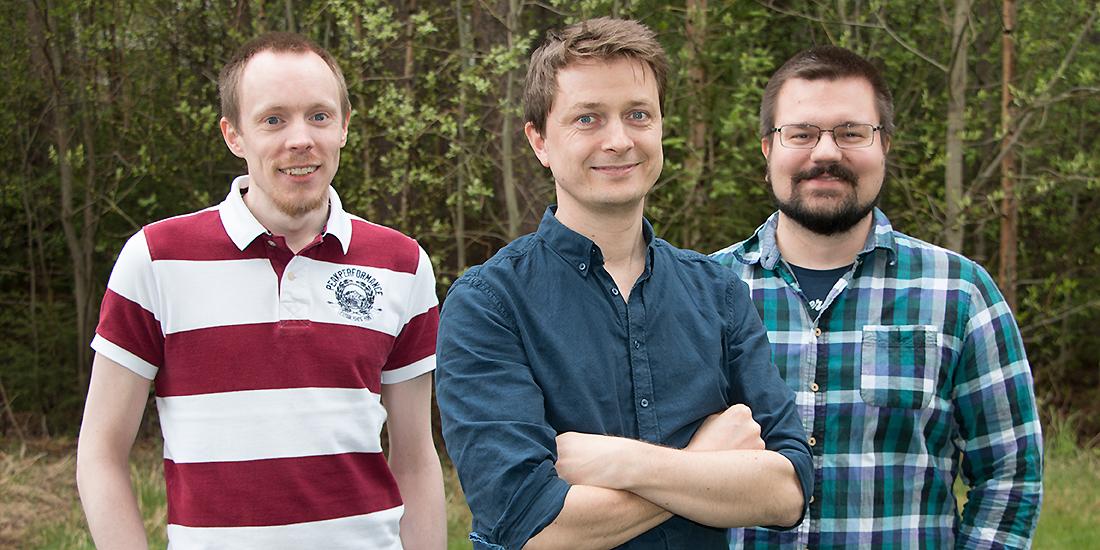 Daniel Wiberg, Andreas Lind och Jesper Byström .