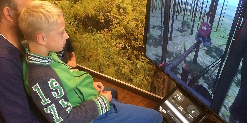 Simulator på plats i Teknikens hus