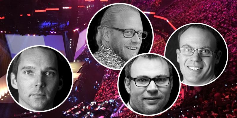 Stefan Lundin, Peter Johansson, Jonas Lundin och Roger Fors från Hi5 i Umeå rapporterar direkt från nyhetsscenerna på Microsoft Ignite.