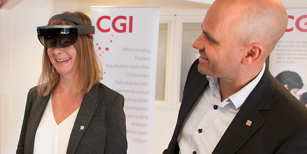 Sara Winqvist och Ulf Skoglund på CGI Umeå