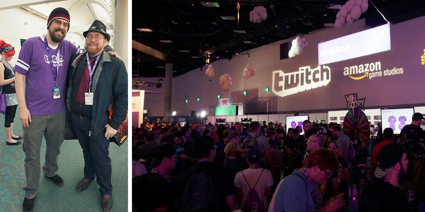 Johan Westin, Game Director på Level Eight, tillsammans med CohhCarnage, en av Twitch största streamers.
