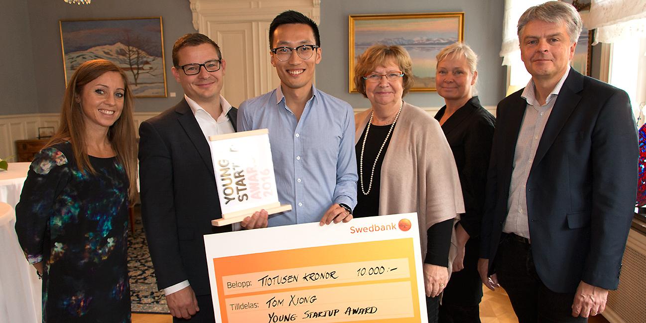 Tom Xiong vinner startup-pris.