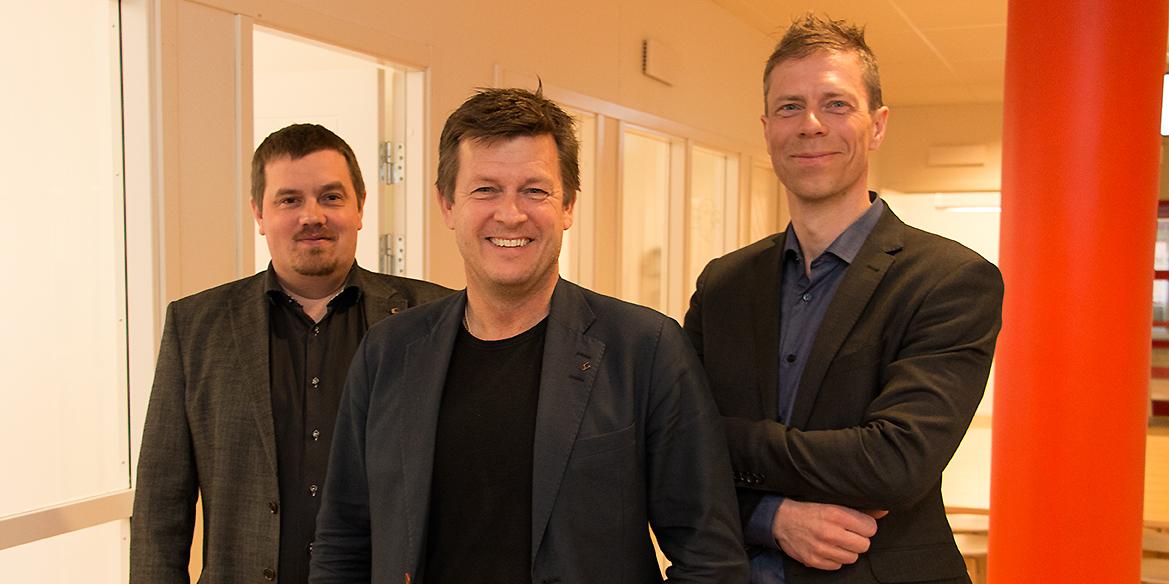 Henrik Olsén, Jim Carlsson och Håkan Wallberg i ledningen för Clavister