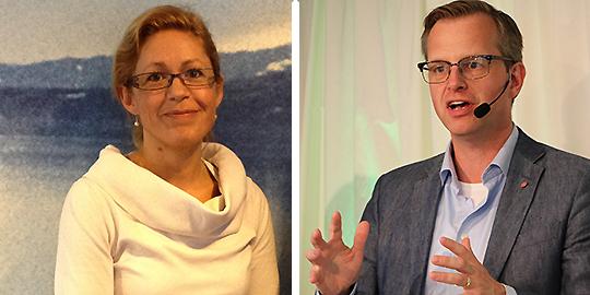 Beatriz Axelsson och Mikael Damberg