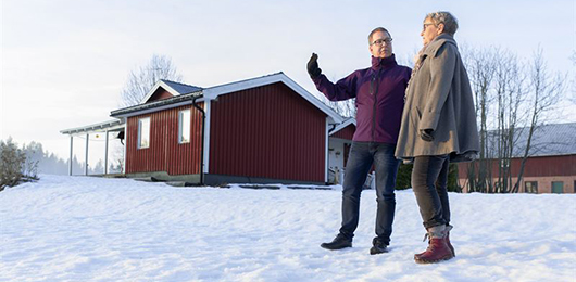 Anders Pettersson, vd Skellefteå Kraft fibernät, och Maj Degerstedt, Ersmarksbodarna.