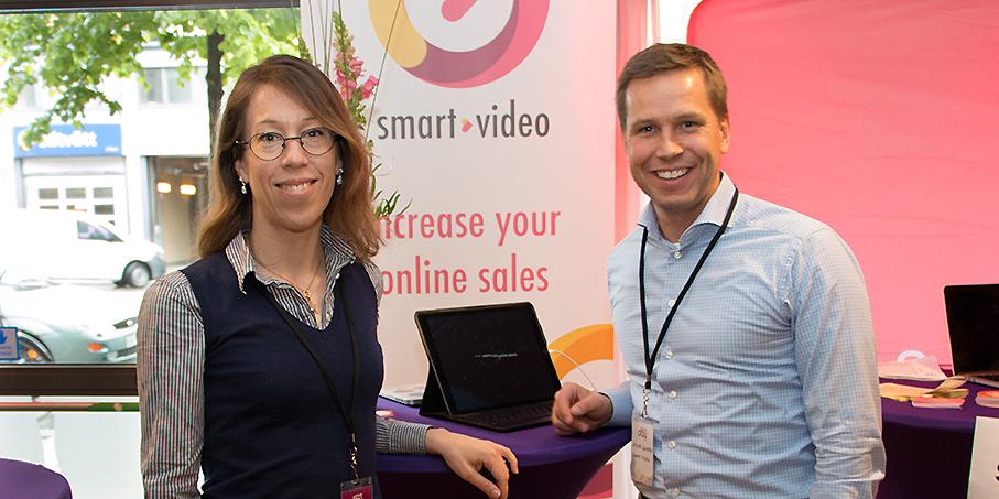 Johanna Björklund och Niklas Jansson från Smart Video är mycket nöjda över den nya investeringen.