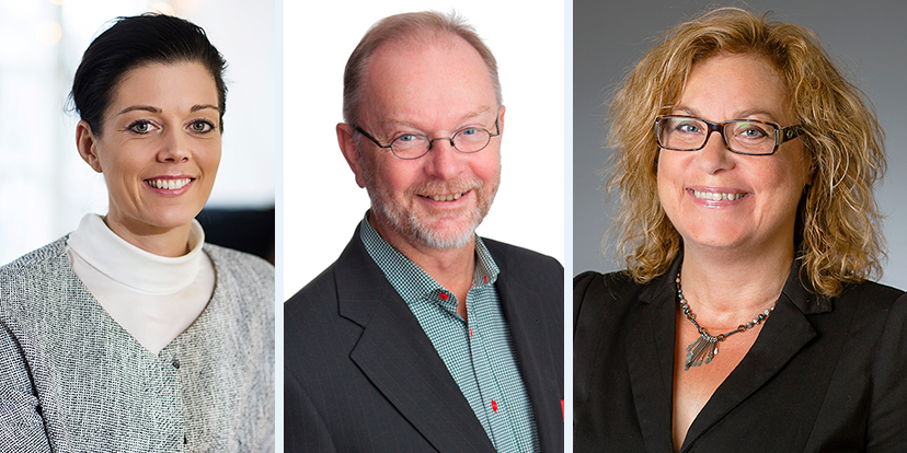 Veronica Augustsson, Lars Stenlund och Elza Dunkels