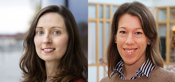 Melisande Middleton och Johanna Björklund
