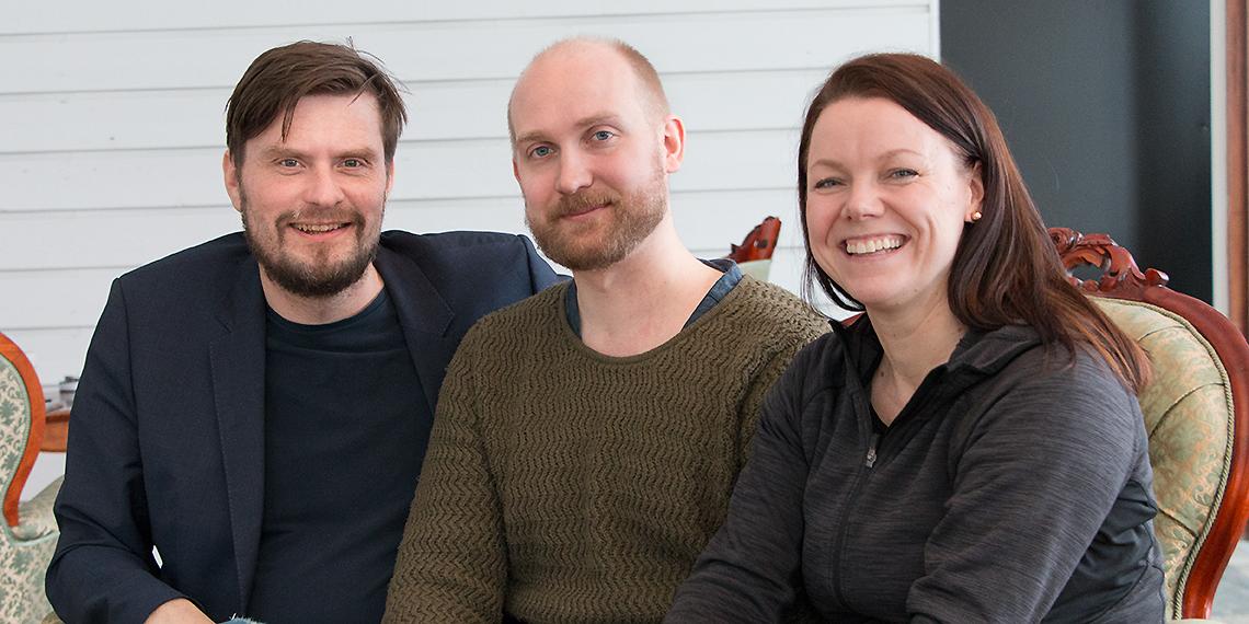 Jan Axelsson, Arvid Sundqvist och Jennie Tinderfjäll