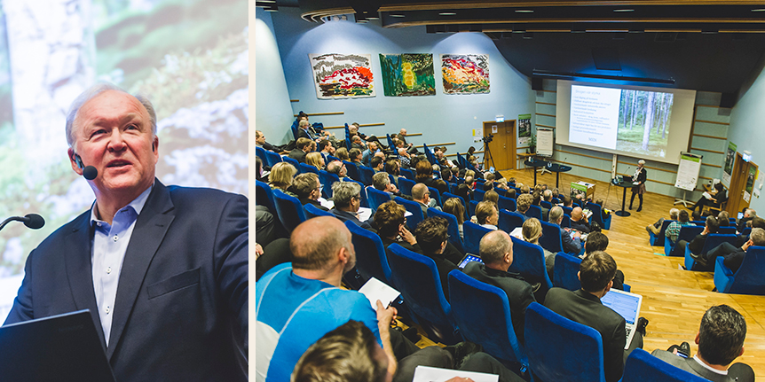 Göran Persson var en av talarna under Bioekonomiriksdagen.