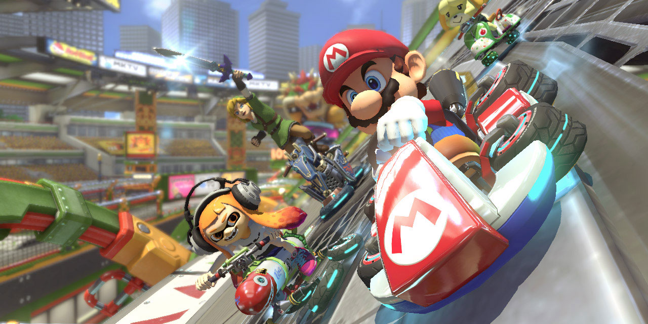 Mario Kart på Nintendo Switch.