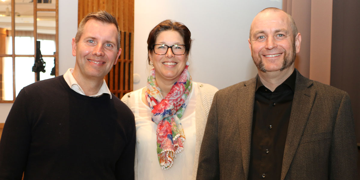 Urban Holmgren, Elisabet Nilsson och Linus Gustafsson.