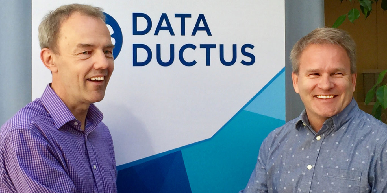 Mats Eriksson, vd Arctos Labs och Stefan Lundström, vd Ductus Consulting Foto: Frida Göthager