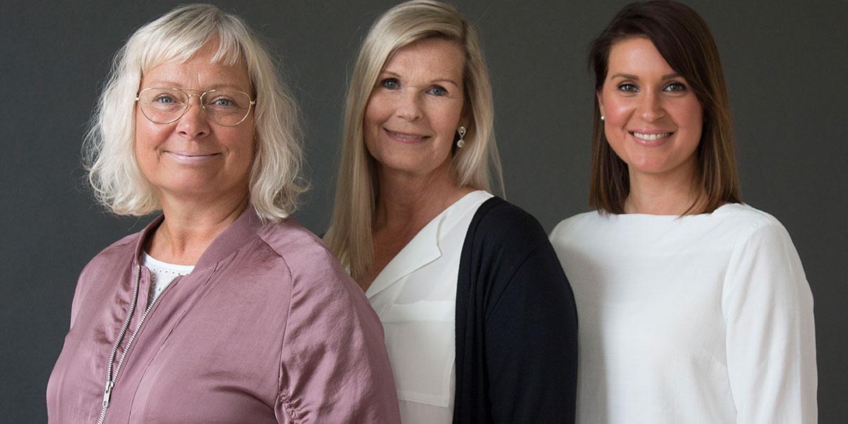 Lena Öhlund, BIC Factory, Lena Hedman Rahm, Regionakademien, och Kerstin Edvardsson, BIC Factory.