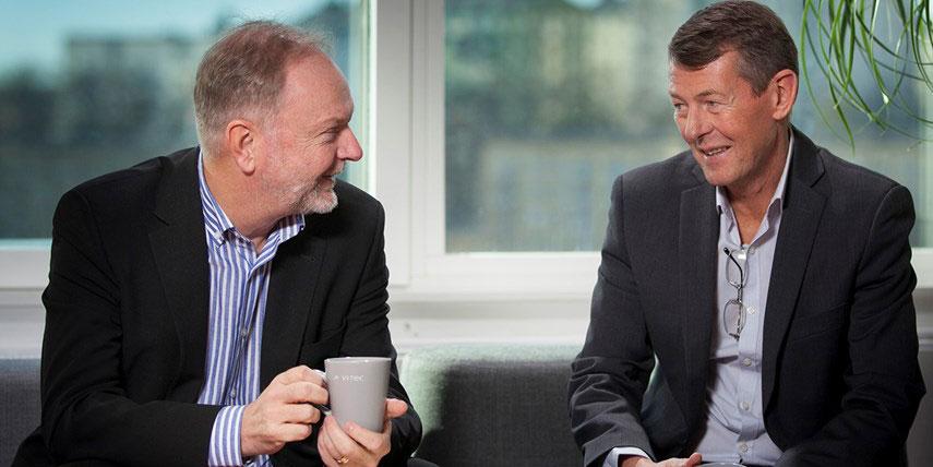 Lars Stenlund och Olof Sandberg, grundare av Vitec.
