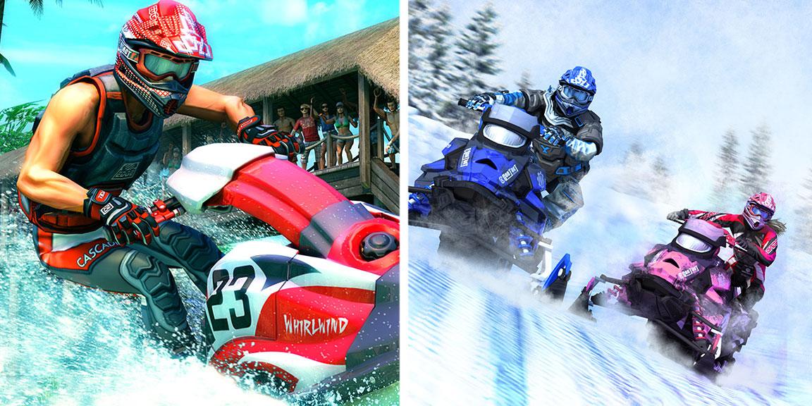 Zordix släpper spelen Snow Moto Racing Freedom och Aqua Moto Racing Utopia för nya spelkonsolen Nintendo Switch.