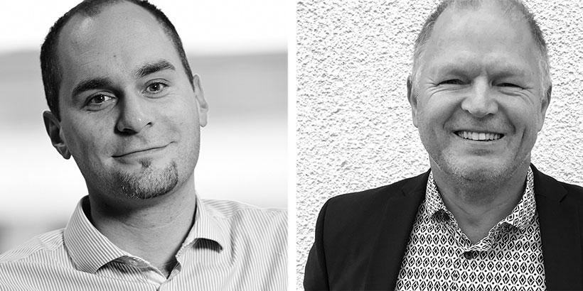 Joakim Jormelin, Knowit, och Per-Erik Nilsson, Nexus Group.