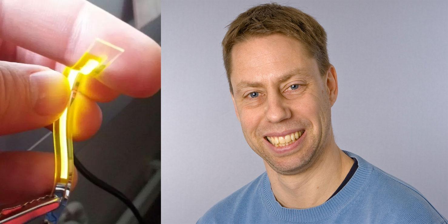 Ludvg Edman är forskare och grundare av Lunalec som tagit fram en lösning för en helt ny ljusprodukt med många tillämpningar.