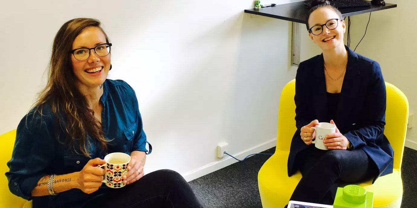 Marika Sjöberg och Rebecca Hansson från SESNordic kan glädja sig åt en nominering till Västerbotten GrandPris 2018.