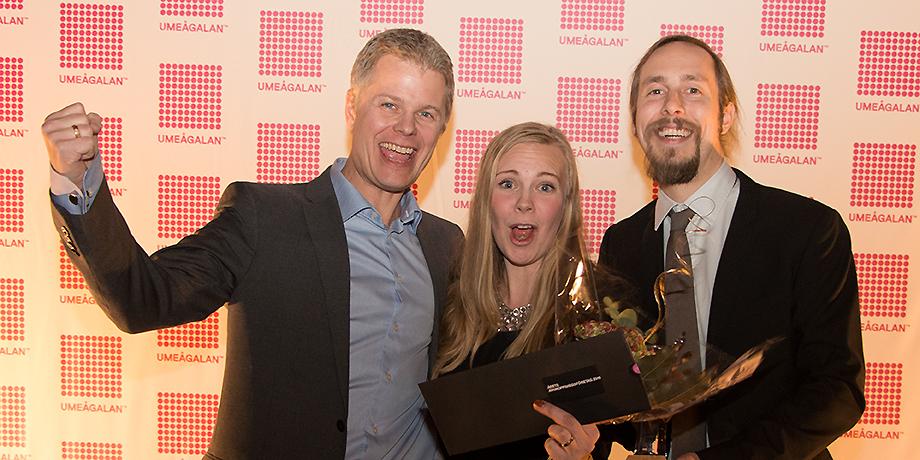 Google köper Limes Audio, en riktig skräll som inleder nyhetsåret 2017 och blev den mest lästa nyheten på Infotech Umeå för hela 2017. Bilden från hösten 2016 när Limes Audio utsågs till Årets avknoppningsföretag vid Umeågalan.