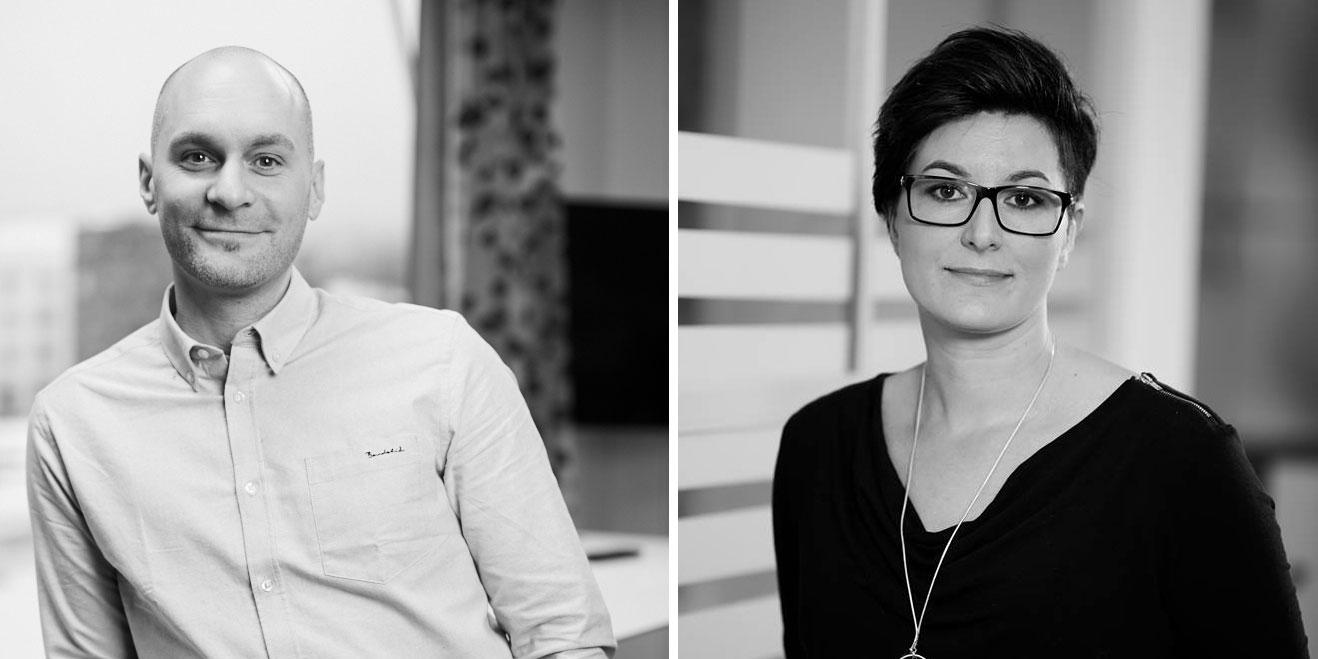 Joakim Jormelin och Johanna Tunberg finns i ledningen för Knowit Experience Norrland.