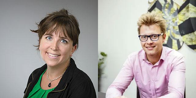 Katrin Jonsson, forskare vid Informatik, Umeå universitet, och David Lindström, affärsansvarig Umeå Energi, finns med i satsningen på att få fram nya lösningar för Internet of Things i offentlig sektor.