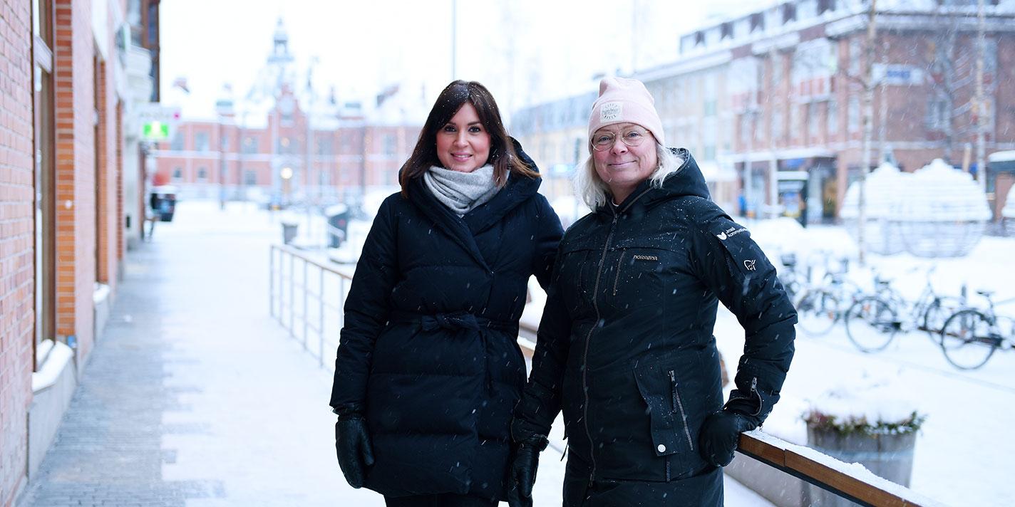 Kerstin Edvardsson och Lena Öhlund på BIC Factory ser fram mot flytt till nya lokaler mitt i Umeå centrum.