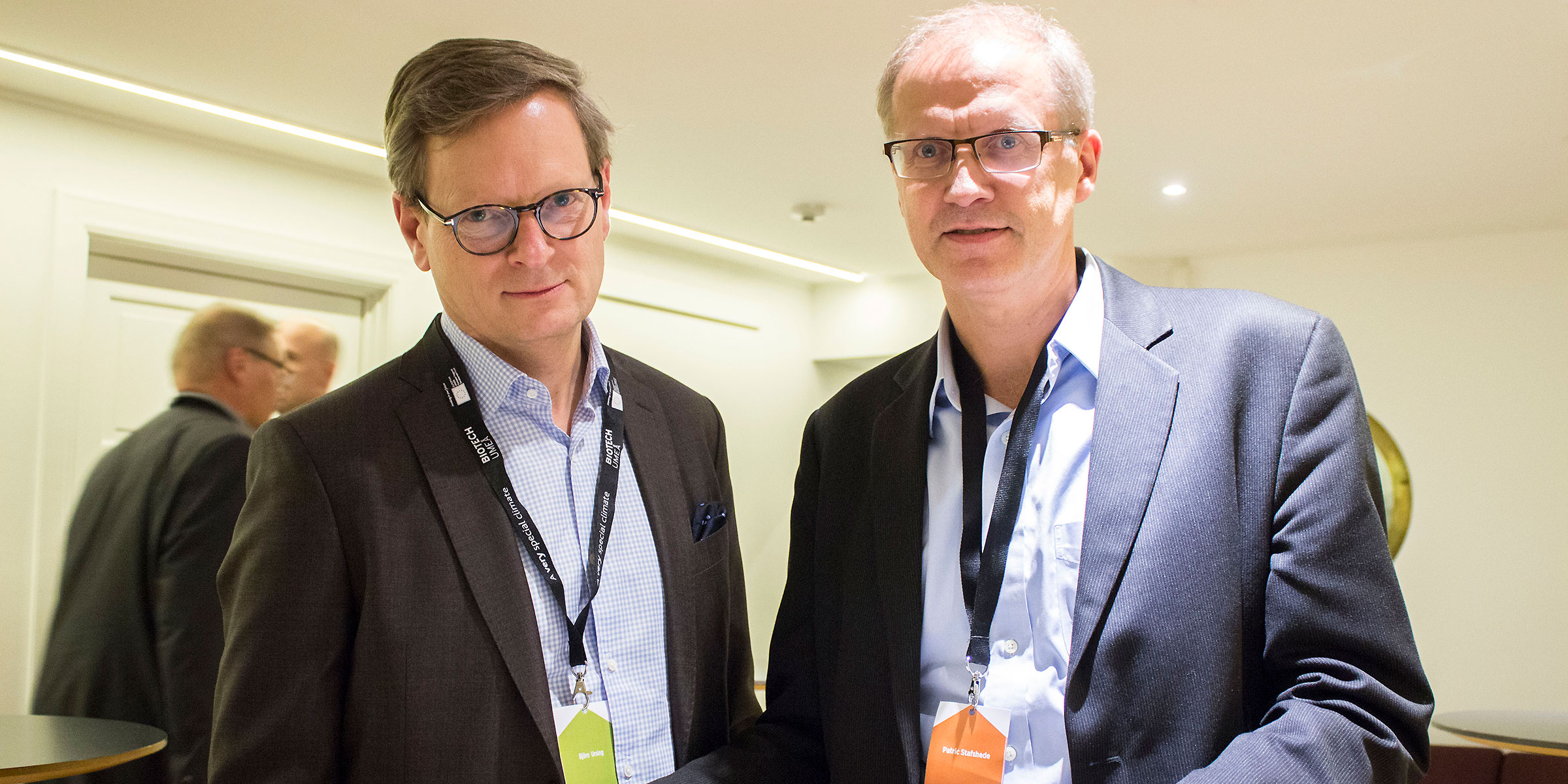 Björn Ursing, Sweden Bio, and Patric Stafshede, LunaLEC, agreed that it is both fun and important to remain updated on new companies entering the market.