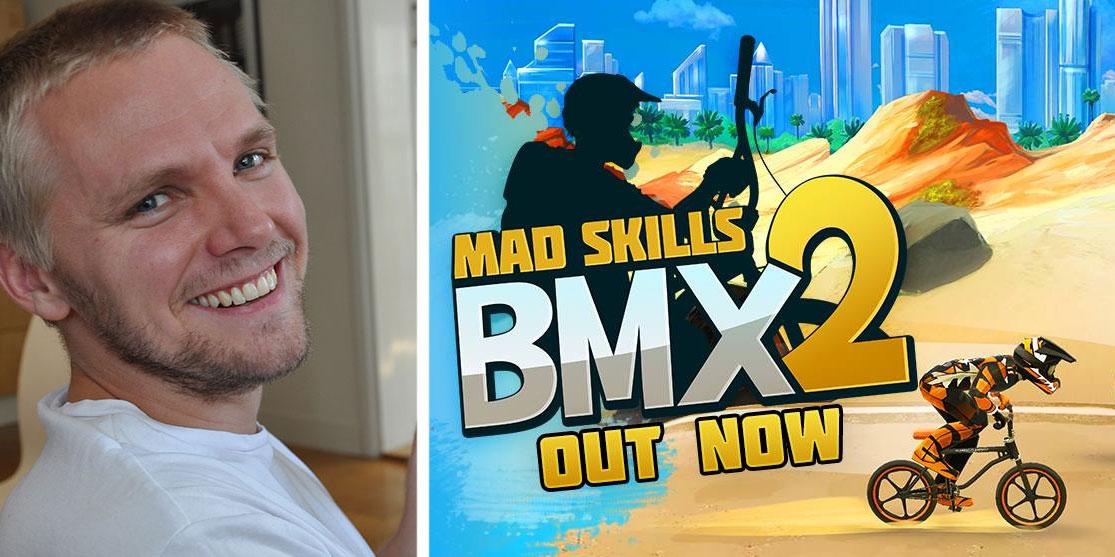 Tobias Andersson, vd för Turborilla, är mycket nöjd med lanseringen av Mad Skills BMX 2.