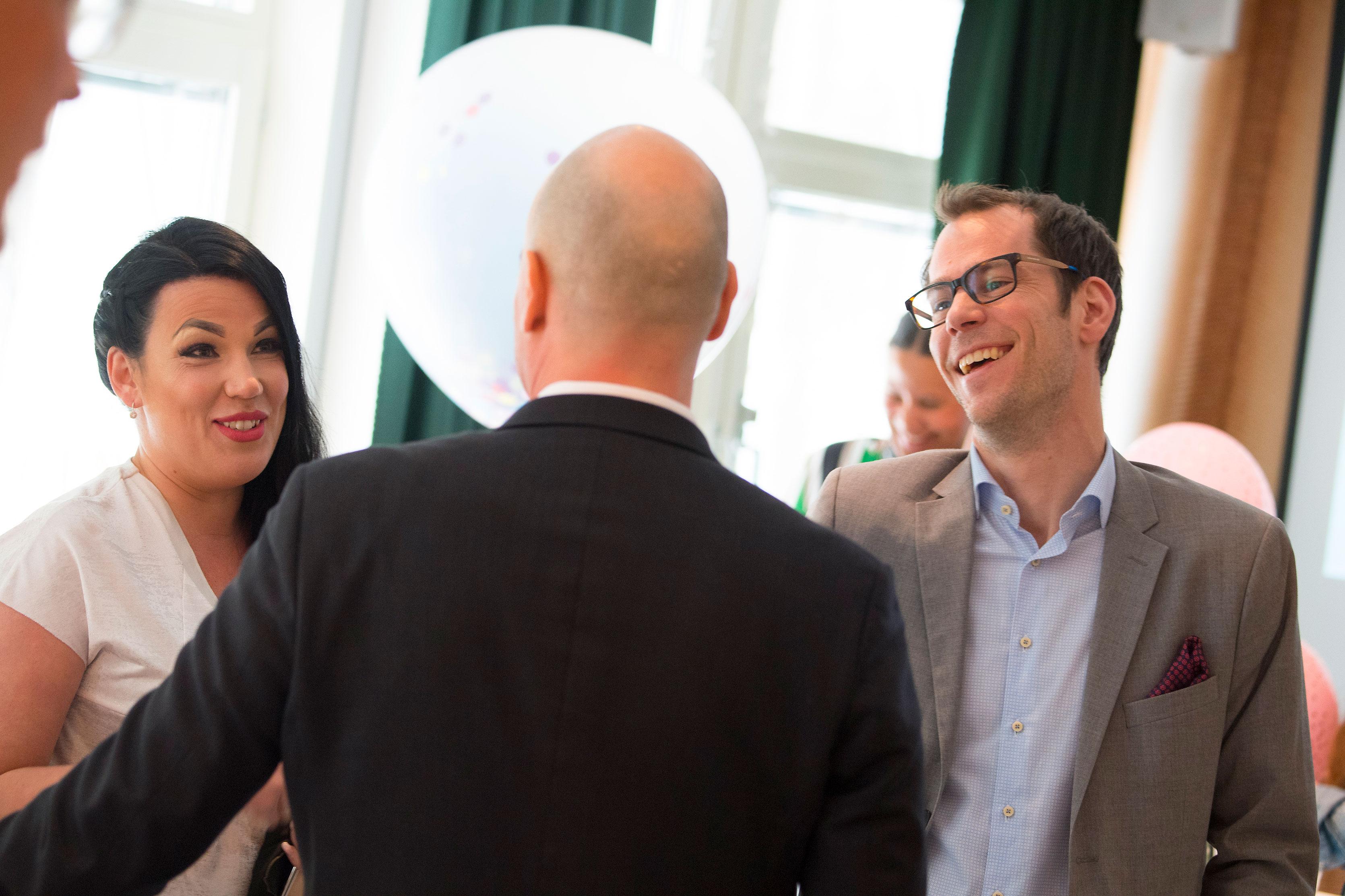 Desirée Rova och Peter Bäckström.