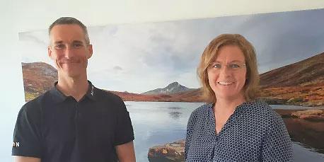 Johan Bålhammar, vd och Anneli Lindström, ny avdelningschef.