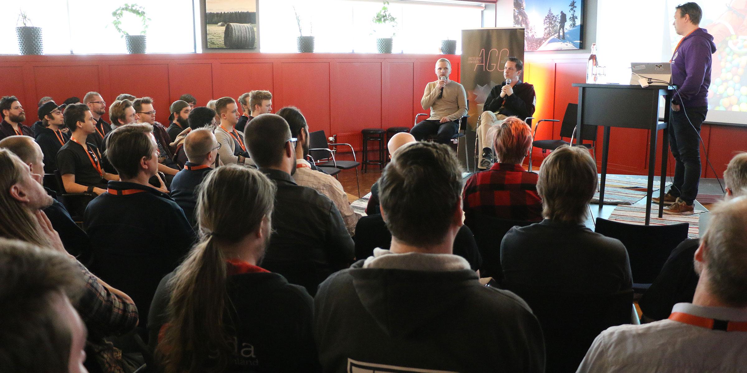 Stort intresse för att lyssna på de erfarenheter som Tobias Andersson och Patrik Knutsson samlat på sig.