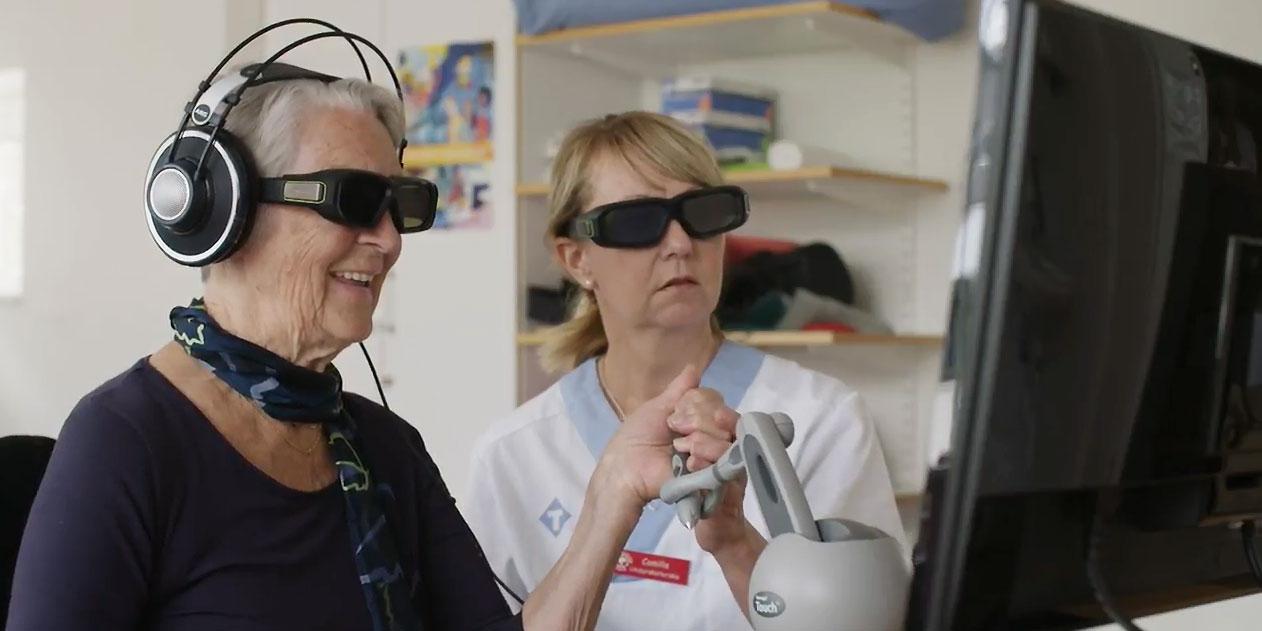 Brain Stimulation, UmanDiagnostics och Likvor är tre life science-bolag som fått stöd av Uminova Innovation. Bilden visar hur strokepatienter kan få hjälp av Brain Stimulations teknik.