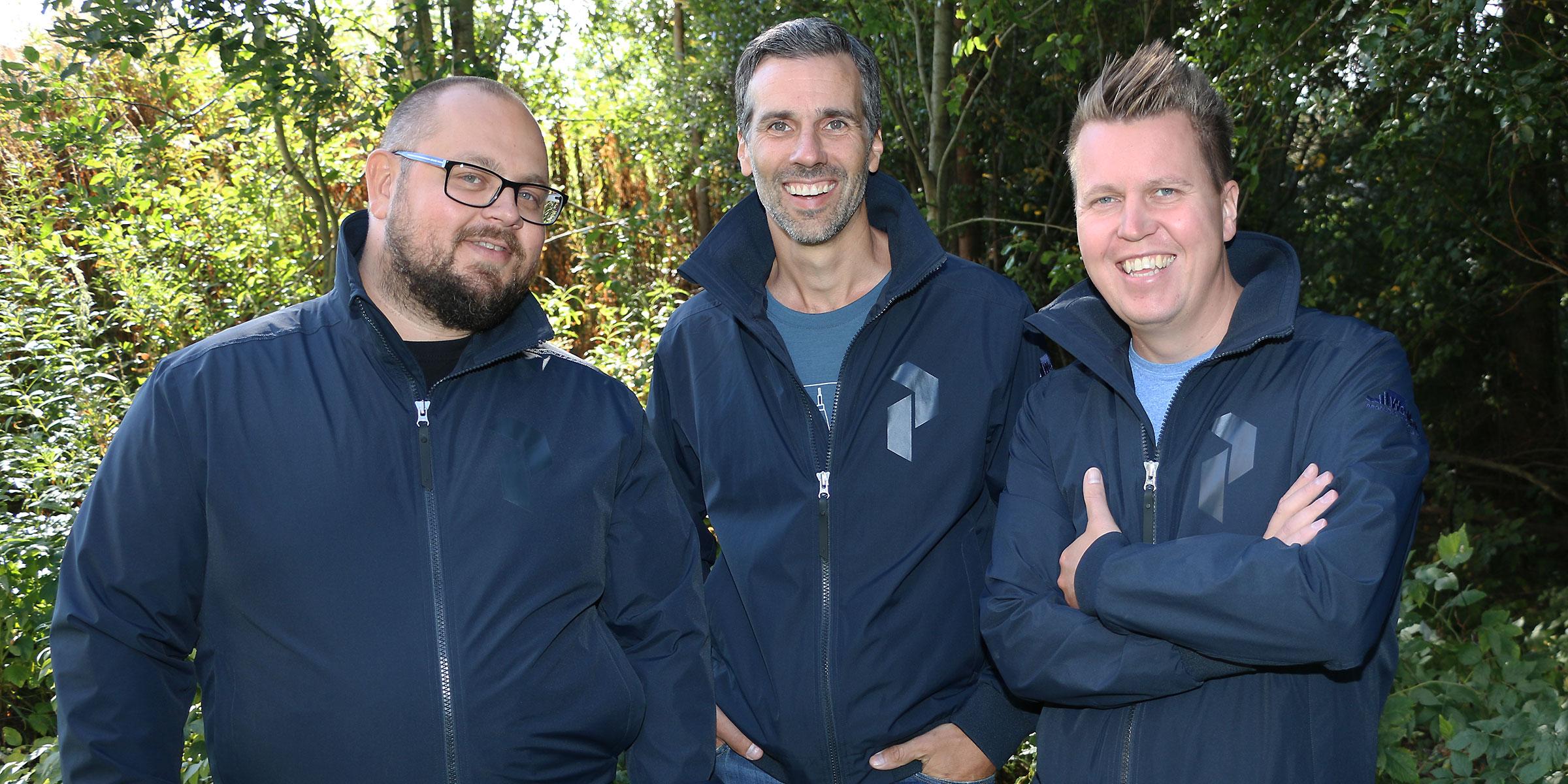 Mycket nöjda med framgångarna för sina produkter är Linus Löfmark, Anders Körning och Isaac Cruse, alla tre på We-Make.