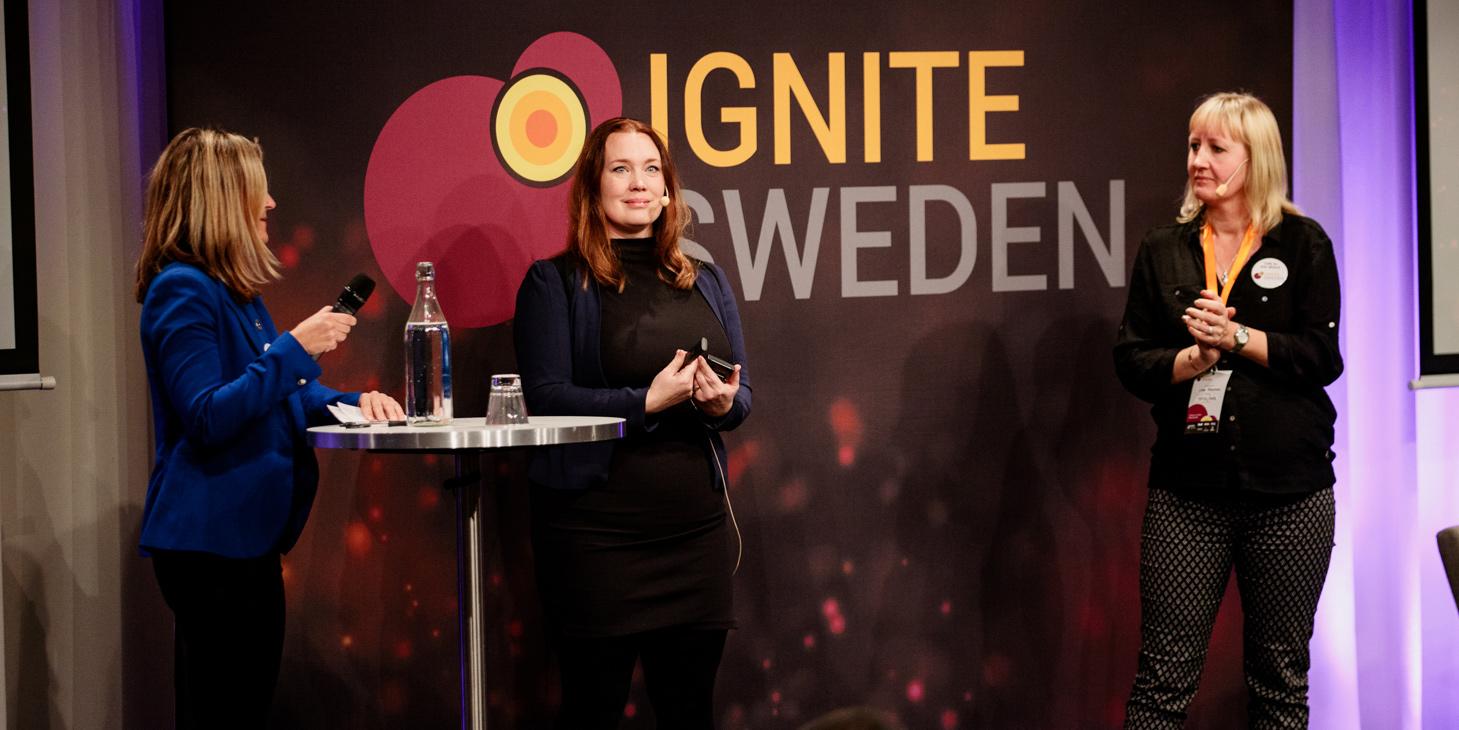 Stina Lantz och Linda Krondahl från Ignite Sweden.